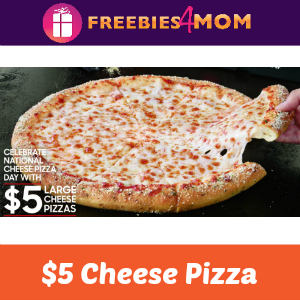$5 Large Cheese Pizza at Pizza Hut Sept. 5