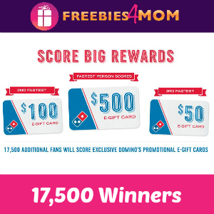 Win Free Domino's E-gift Cards