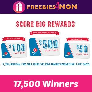 Win Free Domino's E-gift Cards