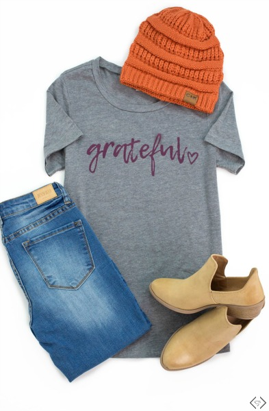 Free Grateful Heart Tee with any $29.95 Purchase