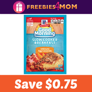 Save $0.75 on McCormick Slow Cooker Breakfast