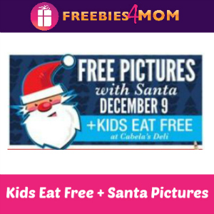 Free Santa Pictures + Kids Eat Free at Cabela's
