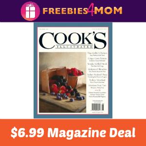 Magazine Deal: Cook's Illustrated $6.99 (thru Sun)
