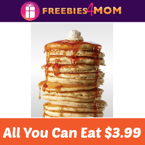 All You Can Eat Pancakes at IHOP $3.99