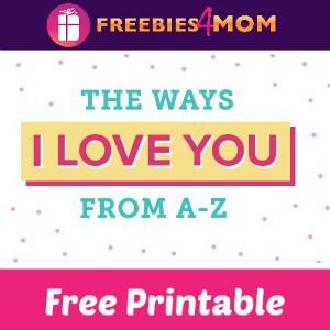 Free Printable Alphabet of Love Book