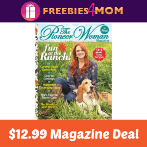 Magazine Deal: The Pioneer Woman $12.99