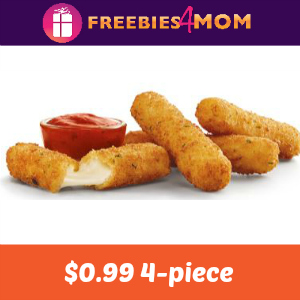$0.99 4-piece Mozzarella Sticks at Sonic Today