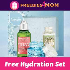 Free L'occitane On-The-Go Hydration Set