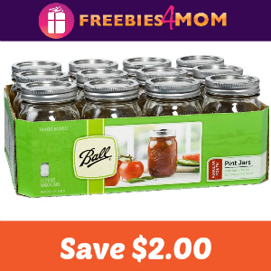 Save $2.00 on 12 pack case of Ball or Kerr Jars