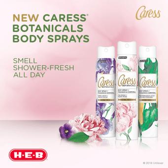 Caress Botanicals Body Sprays at H-E-B