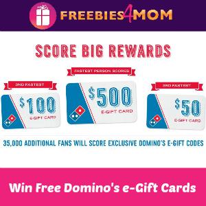 Win Free Domino's E-gift Cards & Codes