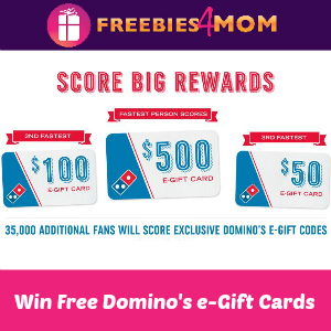 Win Free Domino's E-gift Cards & Codes
