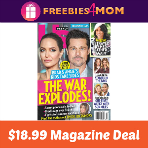 Magazine Deal: Us Weekly $18.99