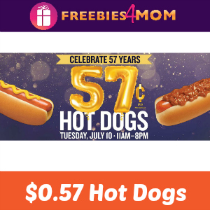 $0.57 Hot Dogs at Wienerschnitzel July 10