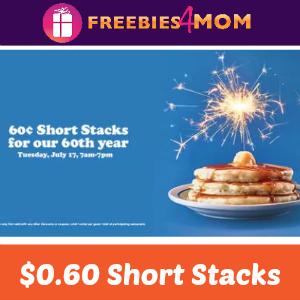 $0.60 Short Stack at IHOP July 17