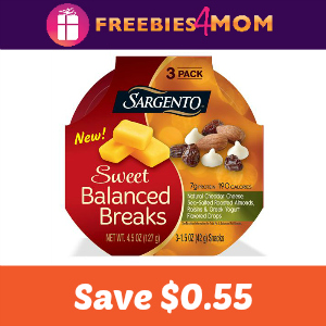 Save $0.55 on Sargento Sweet Balanced Breaks