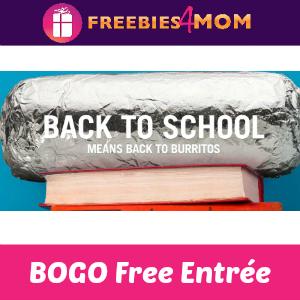 BOGO Free Entrée at Chipotle (for Students)