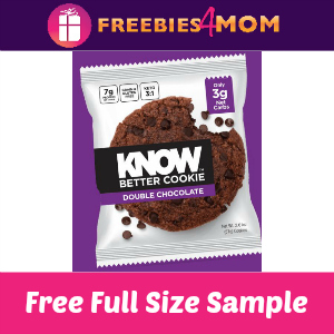 Free Sample Know Better Cookie