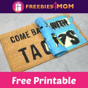 11 Free DIY Doormat Stencil Printables