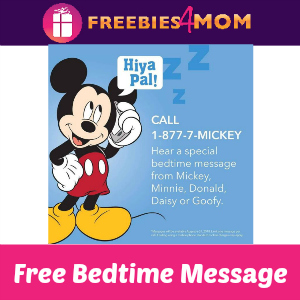 Free Bedtime Message from Mickey & Friends