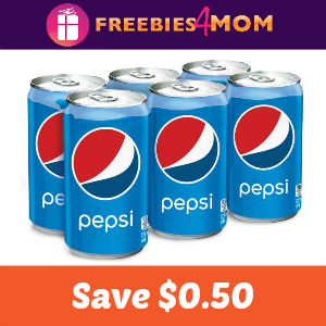 Coupon: Save $0.50 on Pepsi Brand Mini Cans