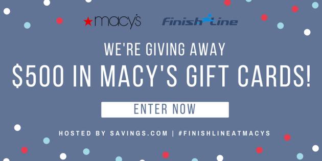 size 40 b4f27 92891 Macy s Finish Line Giveaway