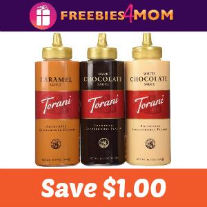Coupon: Save $1.00 on any Torani Sauce