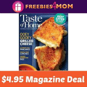 Magazine Deal: Taste of Home $4.95