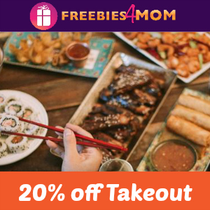 20% off P.F. Chang's Takeout (thru 12/13)