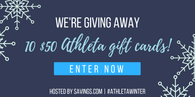 $500 Athleta Giveaway (10 winners of $50 Athleta gift card)