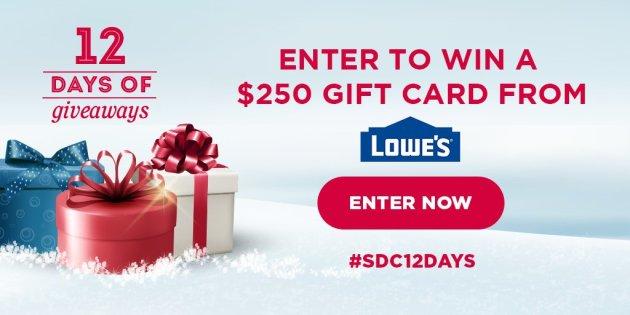 $250 Lowe's Giveaway