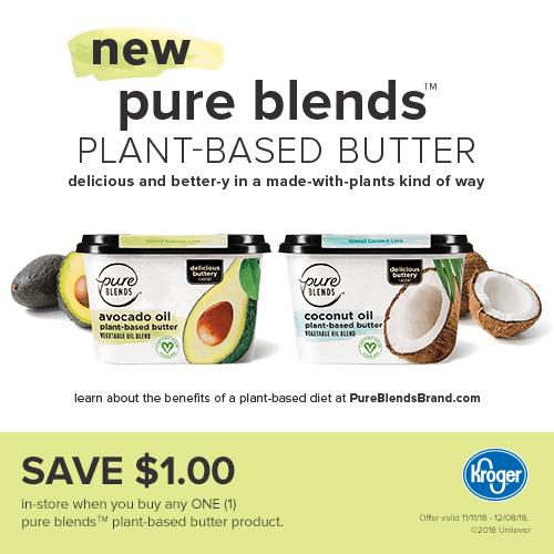 Pure Blends plant-based butter at Kroger