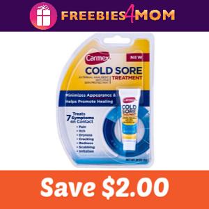 Save $2.00 on Carmex Cold Sore Treatment