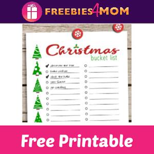 Free Christmas Bucket List Printable