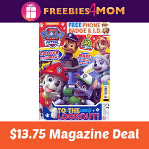 Magazine Deal: Paw Patrol $13.75