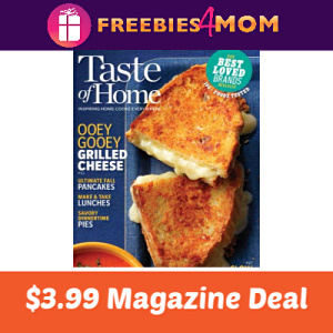 Magazine Deal: Taste of Home $3.99