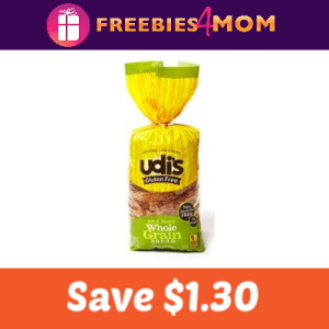Coupon: Save $1.30 on Udi's Gluten Free Bread