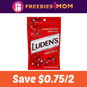 Coupon: Save $0.75 on 2 Luden's