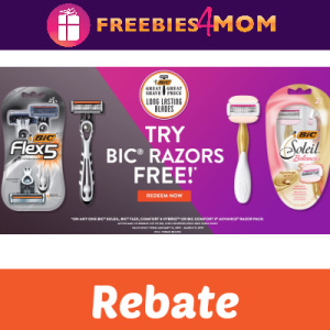 Rebate: Try BIC Razors Free (Up to $10)