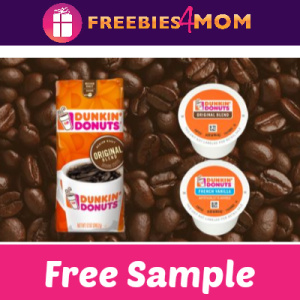 Free Sample Dunkin' Donuts Coffee at Home