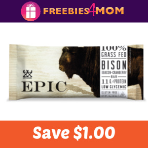 Coupon: Save $1.00 off one EPIC Bar