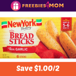 Save $1.00 off 2 New York Bakery products