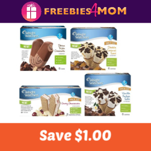Save $1.00 on Weight Watchers Novelty Ice Cream