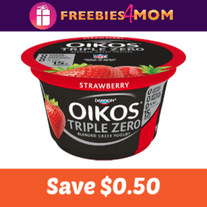 Save $0.50 off any Dannon Oikos Triple Zero