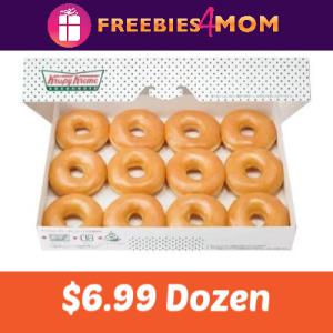 Krispy Kreme Any Dozen Doughnuts $6.99