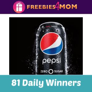 Sweeps Pepsi Zero Sugar Pay Zero