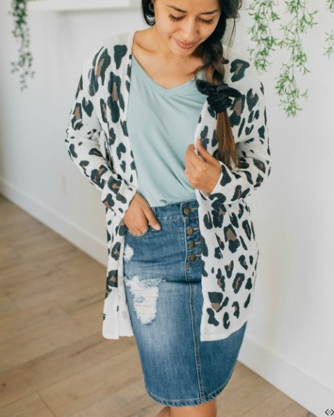$24.98 Leopard Print Cardigan (Save 50%)