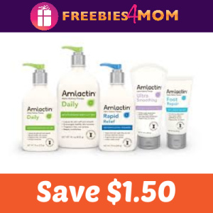 Save $1.50 on AmLactin Skin Care