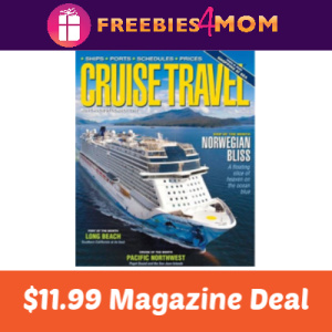 Magazine Deal: Cruise Travel $11.99