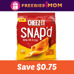 Coupon: Save $0.75 on Cheez-It Snap'd